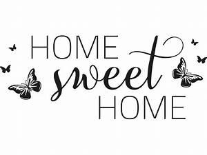 Home Sweet Home Schriftzug : wandtattoo home sweet home dekorativ von klebeheld de ~ A.2002-acura-tl-radio.info Haus und Dekorationen