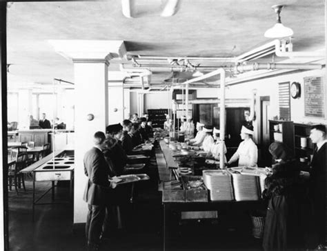 Dining room of home economics cafeteria, showing serving c ...