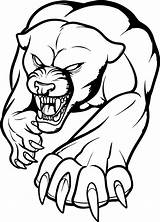 Panther Fierce Coloring Printable Draw Categories Tattoo sketch template