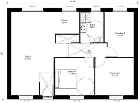 modèle plan maison 3 chambres plan de maison 3 chambres mod 232 le r 233 sidence picarde 104 h