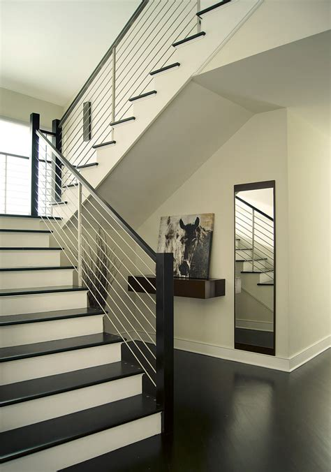 contemporary stair railing staircase contemporary
