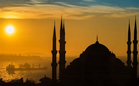 sunnset  istanbul sultan ahmed mosque turkish  ultra
