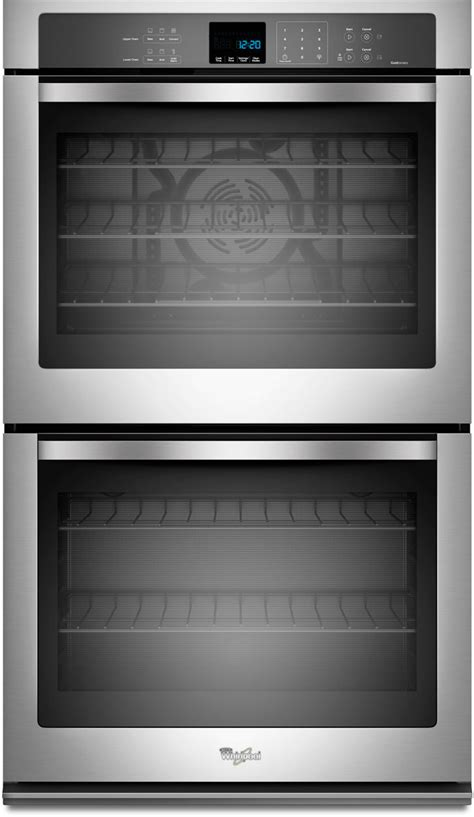 whirlpool wodecas   double electric wall oven   total cu ft capacity  cu