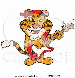 Royalty-Free (RF) Clipart Illustration of a Playful Tiger ...