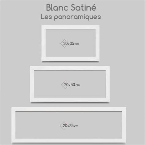 cadre photo blanc satin plat
