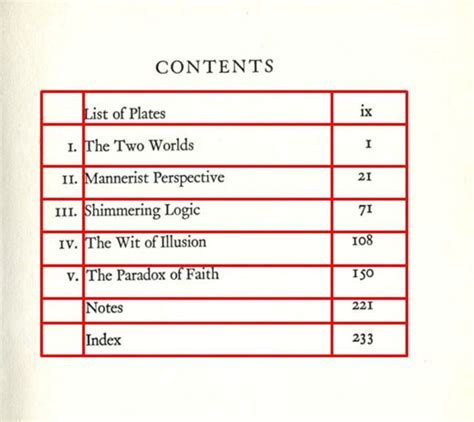 table of contents definition archbook architectures of the book table of contents
