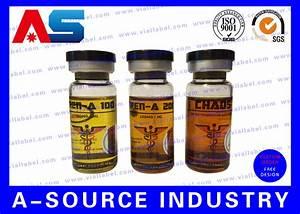 Clear Steroid Bottle Labels