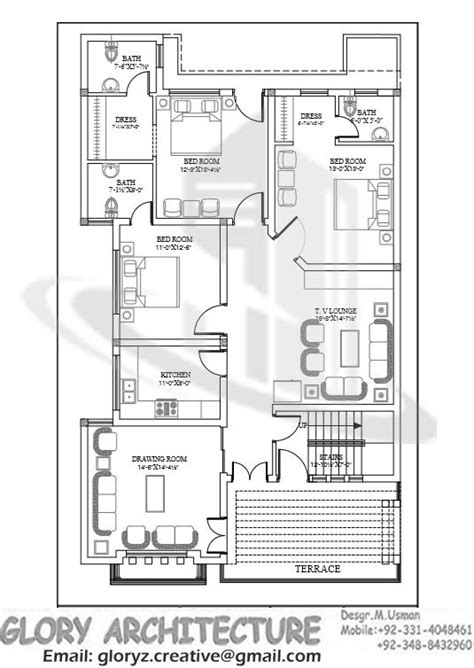 ff working plans    marla house plan