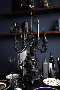 35 dark gothic interior designs decorazilla design blog With kitchen cabinet trends 2018 combined with large candle holder centerpiece