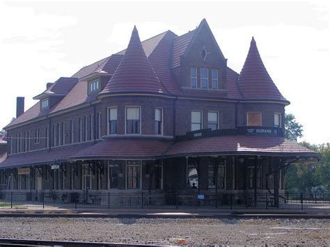 Trackside view Picture of Durand Union Station