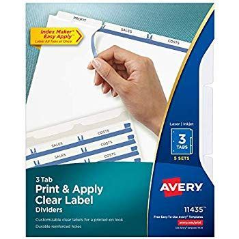 amazoncom avery  tab sheet protectors dividers