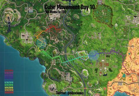 fortnite cube tracker map news updates
