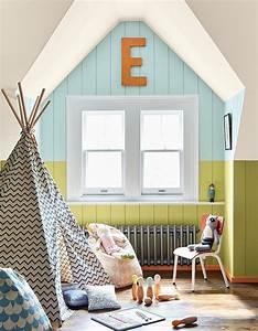 Comment Peindre Une Chambre En 2 Couleurs : latest peindre un mur de plusieurs couleurs pour apporter ~ Zukunftsfamilie.com Idées de Décoration
