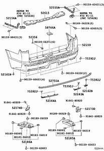 Toyota 4runner Bumper Impact Absorber  Rear   Body  Bar