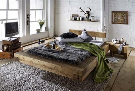 Bett Doppelbett Balken Bett Kiefer Fichte Massiv Altholz