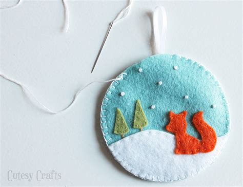 felt patterns for christmas deer and fox felt christmas ornaments cutesy crafts