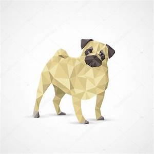 Geometric pug dog — Stock Vector © I.Petrovic #52426751