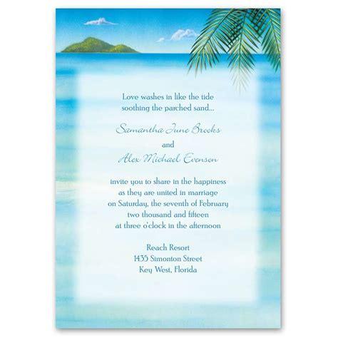 ocean view invitation   response card anns