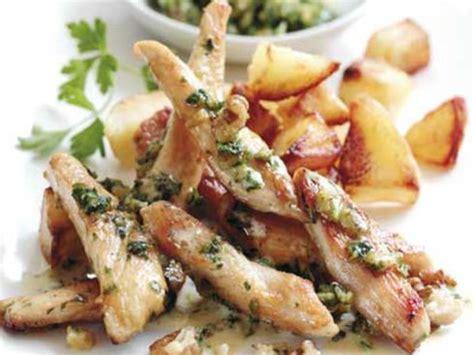aiguillettes de poulet au pesto recettes femme actuelle