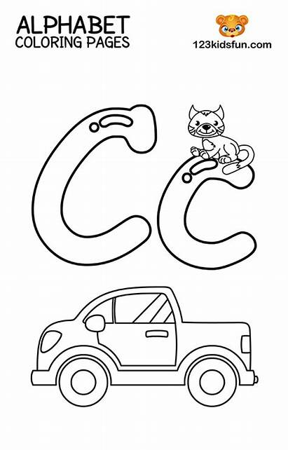 Coloring Alphabet Printable Letter Letters Worksheets Fun