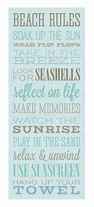 Beach rules canvas wall art everything turquoise