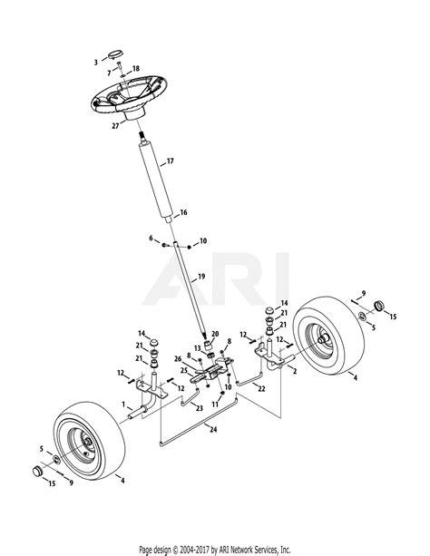 mtd bjc  parts diagram  front  steering