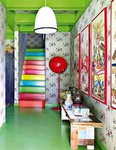 Comment Peindre Une Porte Sans Faire De Trace : 29 id es peinture pour s amuser avec la couleur marie claire ~ Premium-room.com Idées de Décoration