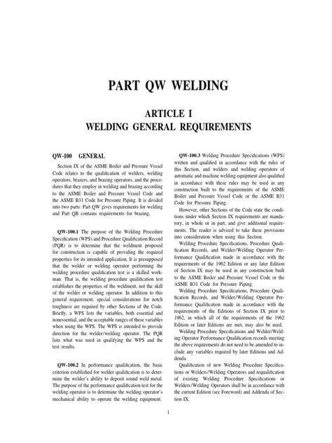 ASME IX QW.pdf | Welding | Pipe (Fluid Conveyance)