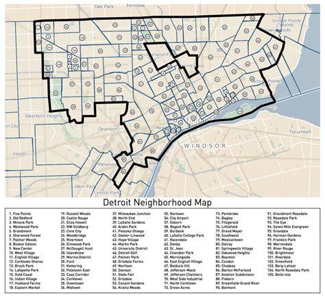 lovelands detroit neighborhoods map detroitography