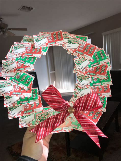 lottery ticket wreath cheap christmas gifts lottery
