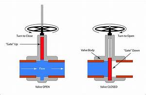 Schematic Illustration Of A Gate Valve