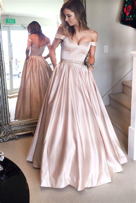 light pink prom dresses stylish light pink shoulder prom dress light pink