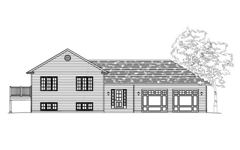 side split house plans side split building plans drafting innovations