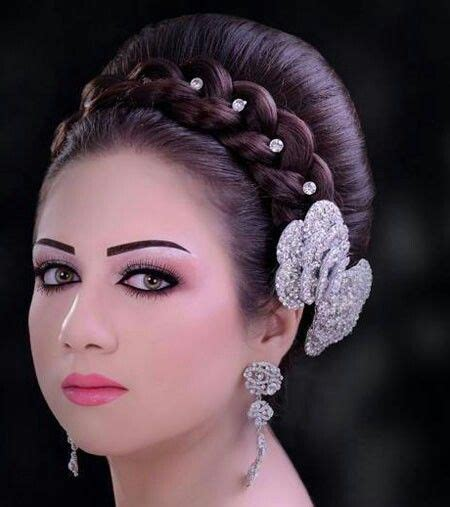 arabic bridal hairstyles arabic bridal hair  makeup bridal bunsbouffants  updos