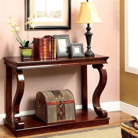 Entryway And Foyer Furniture by Console Table Curved Wood Accent Entry Solid Foyer