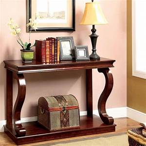Elegant, Console, Table, Curved, Wood, Accent, Entry, Solid, Foyer, Sofa, Entryway, Cherry