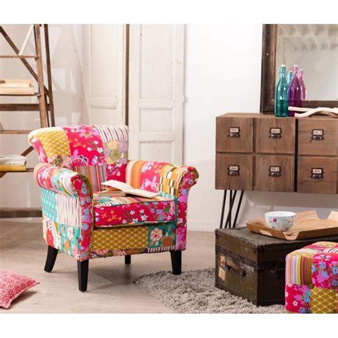 canapé tissu fleuri anglais petit fauteuil salon patchwork tissu bohème