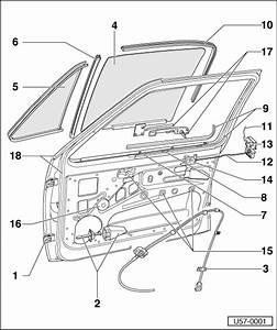 Volkswagen Workshop Manuals  U0026gt  Golf Mk1  U0026gt  Body  U0026gt  Body Repair Work   U0026gt  Front Door  Central Locking