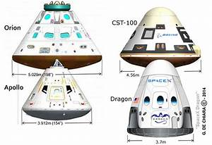 spacex - How do the sizes of the various proposed manned ...