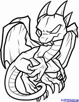 Dragon Coloring Pages Baby Easy Print Drawing Drawings Boys Draw sketch template