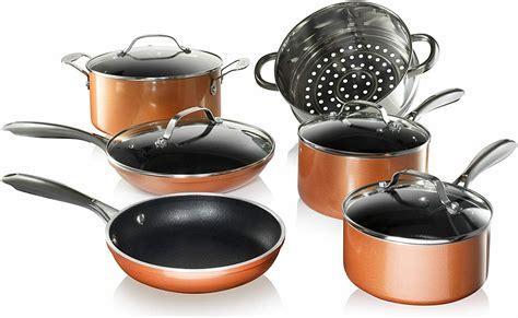 gotham steel copper cast nonstick  piece cookware set    tv  ebay