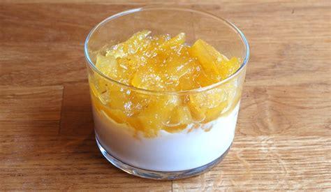 dessert avec ananas frais frais