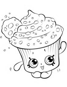 Creamy Cookie Cupcake Shopkin coloring page Free
