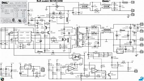 Dell Repair Diagram by Dell Sa145 3436 Power Supply Schematic Service Manual