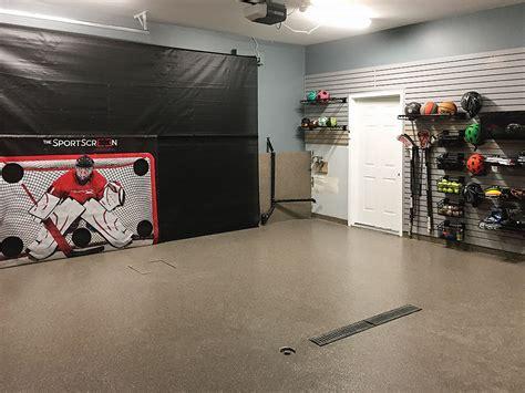 garage living calgary donates sportscreen garage door