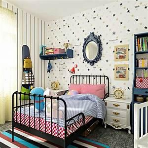 Decoration Murale Chambre Enfant : papier peint enfant quels motifs et couleurs choisir ~ Teatrodelosmanantiales.com Idées de Décoration