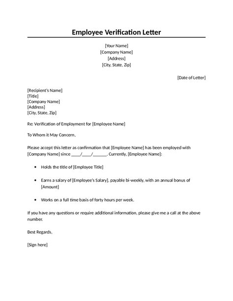 Confirmation Of Employment Letter For Bank | task list