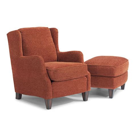flexsteel 0060 10 08 andrew chair and ottoman discount