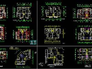 plan autocad pour differents types d39appartements dwg par With plan de maison dwg gratuit