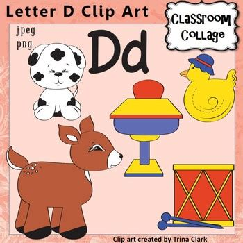 colors starting with d alphabet clip letter d items start with d sound